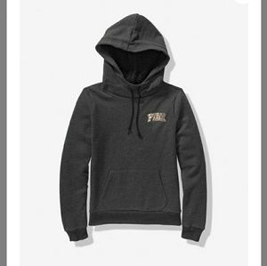 Bling sherpa hooded pullover